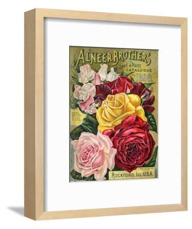 Alneer Brothers Seed and Plant Catalogue, 1898--Framed Premium Giclee Print