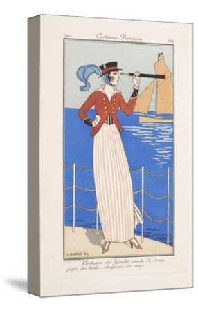 Smithsonian Libraries: Costumes Parisiens by Georges Barbier--Stretched Canvas Print