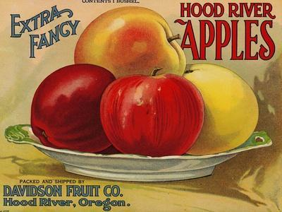 Warshaw Collection of Business Americana Food; Fruit Crate Labels, Davidson Fruit Co.--Stretched Canvas Print