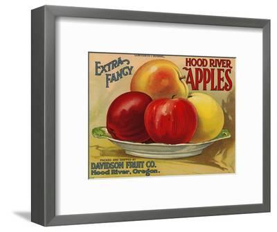 Warshaw Collection of Business Americana Food; Fruit Crate Labels, Davidson Fruit Co.--Framed Premium Giclee Print