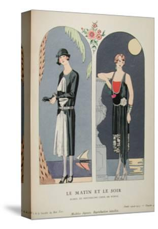 Costume Illustration by Georges Barbier--Stretched Canvas Print