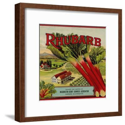 Warshaw Collection of Business Americana Food; Fruit Crate Labels, Washington Berry Growers--Framed Premium Giclee Print