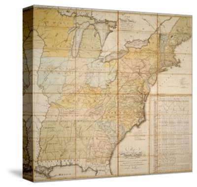 National Postal Museum: 1796 Postal Route Map--Stretched Canvas Print