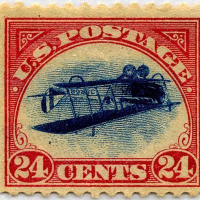 24-cent Curtis Jenny Invert Stamp--Framed Premium Giclee Print