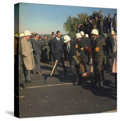 US Marshals Remove an Anti-Vietnam War Protester at the Pentagon, Oct, 22, 1967--Stretched Canvas Print