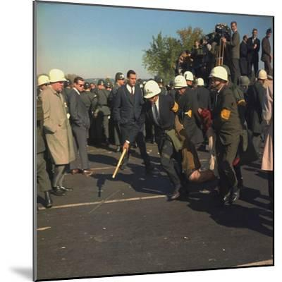 US Marshals Remove an Anti-Vietnam War Protester at the Pentagon, Oct, 22, 1967--Mounted Photo