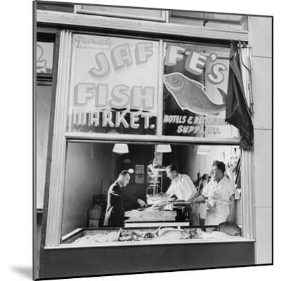 Fish Store in the Lower East Side, the Jewish Neighborhood of New York City. August 1942--Mounted Photo