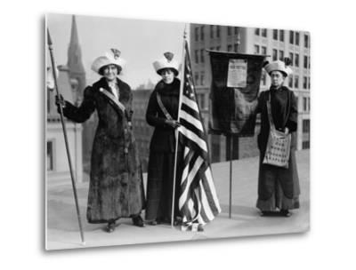 Suffrage Hike of 1912 from Manhattan to Albany Got Attention for Woman's Rights--Metal Print