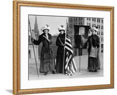Suffrage Hike of 1912 from Manhattan to Albany Got Attention for Woman's Rights--Framed Photo