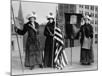 Suffrage Hike of 1912 from Manhattan to Albany Got Attention for Woman's Rights--Mounted Photo