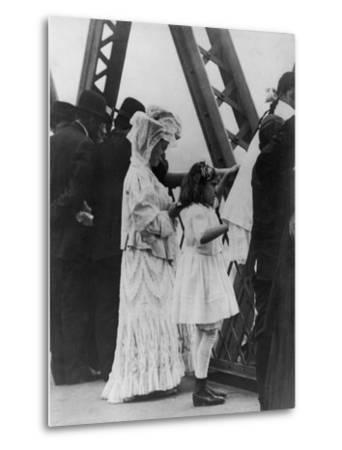 Jews Praying on the Williamsburg Bridge on Yom Kippur, Ca. 1909--Metal Print