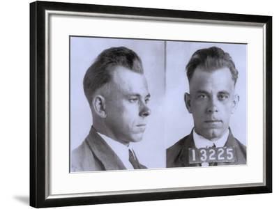 John Dillinger Mugshot, Ca. 1925--Framed Photo