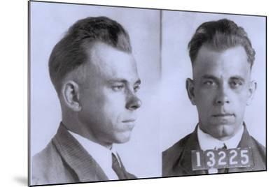 John Dillinger Mugshot, Ca. 1925--Mounted Photo
