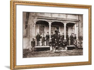 Thomas Edison with Engineers and Technicians of His Menlo Mark Workshop, 1880s--Framed Photo