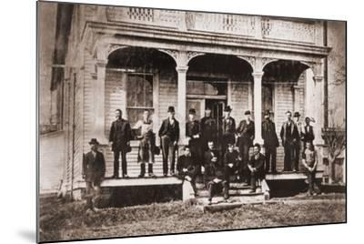 Thomas Edison with Engineers and Technicians of His Menlo Mark Workshop, 1880s--Mounted Photo