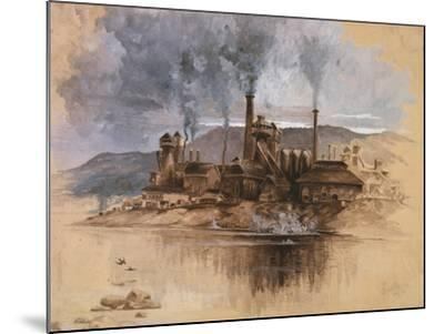 Bethlehem Steel Works in May 1881, Watercolor Painting by Joseph Pennell--Mounted Art Print