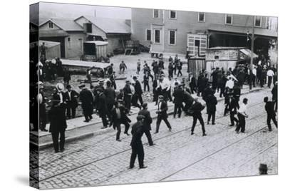 5 Strikers Were Killed by Company Guards at Standard Oil Works, Bayonne, NJ, 1915--Stretched Canvas Print