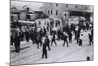5 Strikers Were Killed by Company Guards at Standard Oil Works, Bayonne, NJ, 1915--Mounted Photo