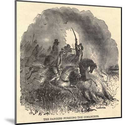 Texas Rangers Pursuing Comanches in 1850s--Mounted Art Print