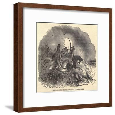 Texas Rangers Pursuing Comanches in 1850s--Framed Art Print
