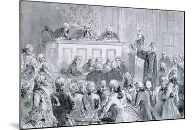 Peter Zenger, in the Dock (At Right), During His Trial for Seditious Libel, 1835--Mounted Art Print
