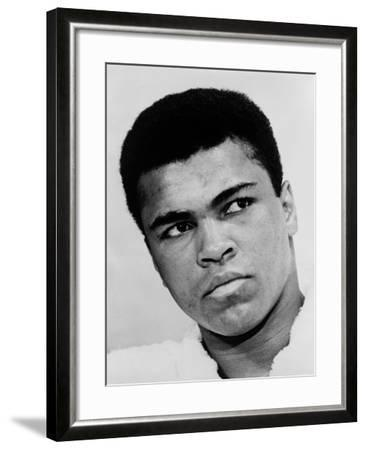 Muhammad Ali in 1967, the Year He Refused Induction into the U.S. Military--Framed Photo