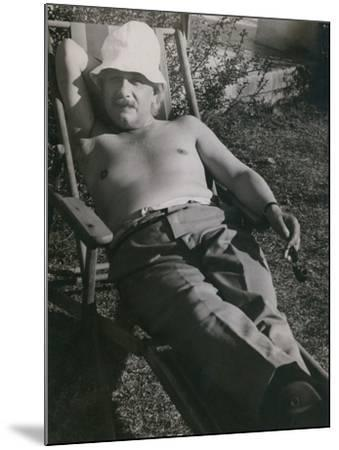 Albert Einstein Sunbathing in 1932--Mounted Photo
