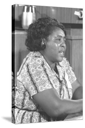 Fannie Lou Hamer, African-American Civil Rights Leader in 1964--Stretched Canvas Print