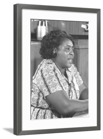 Fannie Lou Hamer, African-American Civil Rights Leader in 1964--Framed Photo
