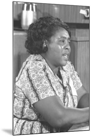 Fannie Lou Hamer, African-American Civil Rights Leader in 1964--Mounted Photo