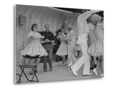 Jimmy Carter Square Dances During a Congressional Picnic on the South Lawn, 1970s--Metal Print