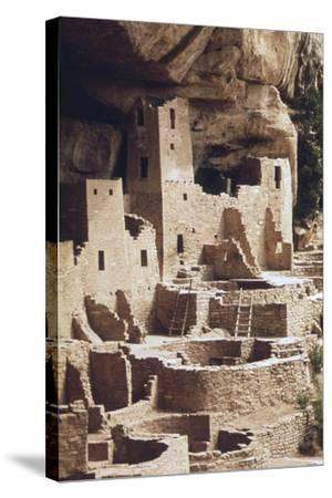 The Cliff Palace at the Mesa Verde Was Inhabited in the 12-13th Centuries--Stretched Canvas Print