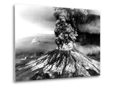 Mount St. Helens on the First Day of Eruption on May 18 1980--Metal Print