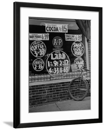 A&P Chain Food Market Advertises its 1939 Food Prices--Framed Photo