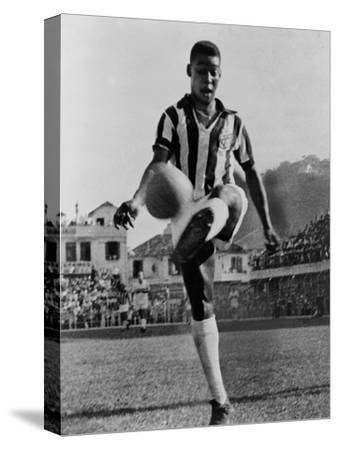 Pele, the Brazilian Soccer Champion in 1965--Stretched Canvas Print