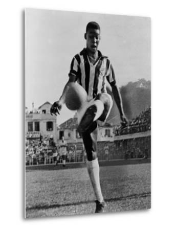 Pele, the Brazilian Soccer Champion in 1965--Metal Print