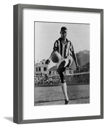 Pele, the Brazilian Soccer Champion in 1965--Framed Photo