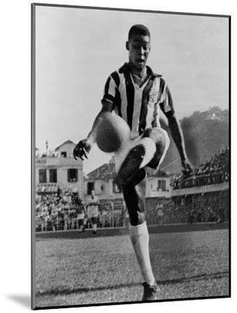 Pele, the Brazilian Soccer Champion in 1965--Mounted Photo