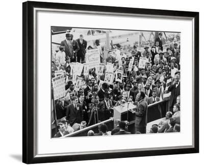 Ghana's President, Kwame Nkrumah, Speaks at Hotel Theresa, in Harlem, Oct. 6, 1960--Framed Photo