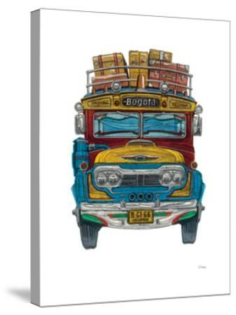 Colombian Bus-Barry Goodman-Stretched Canvas Print