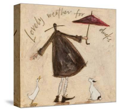 Lovely Weather for Ducks-Sam Toft-Stretched Canvas Print