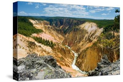 Grand Canyon of Yellowstone-Howard Ruby-Stretched Canvas Print