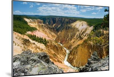 Grand Canyon of Yellowstone-Howard Ruby-Mounted Photographic Print