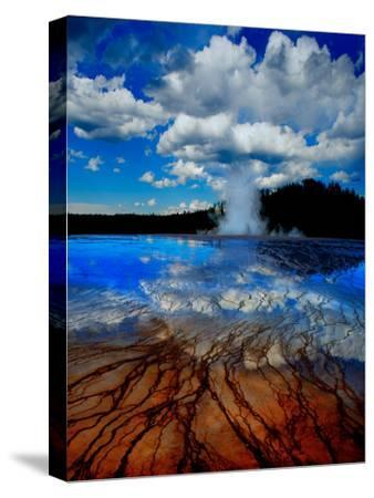 Geyser with Vapor Ring-Howard Ruby-Stretched Canvas Print