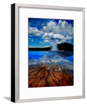 Geyser with Vapor Ring-Howard Ruby-Framed Photographic Print