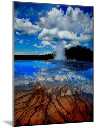 Geyser with Vapor Ring-Howard Ruby-Mounted Photographic Print