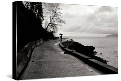 Walking in the Rain-Erin Berzel-Stretched Canvas Print