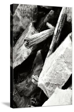 Rocks and Wood I BW-Alan Hausenflock-Stretched Canvas Print