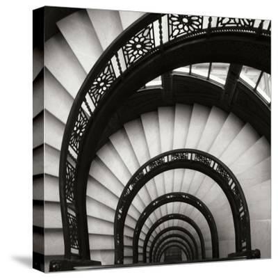 Rookery Stairwell Sq-Jim Christensen-Stretched Canvas Print