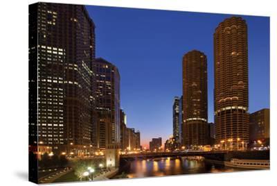 Chicago River Dusk I-Larry Malvin-Stretched Canvas Print